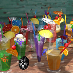 Fruit drinks and mocktails