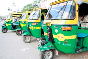 Auto-rickshaw stand