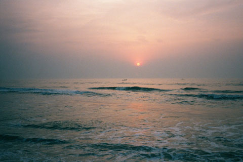 Sunrise over Bay of Bengal, Chennai