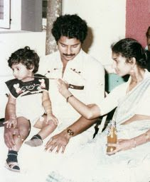 Mammootty, wife and kid
