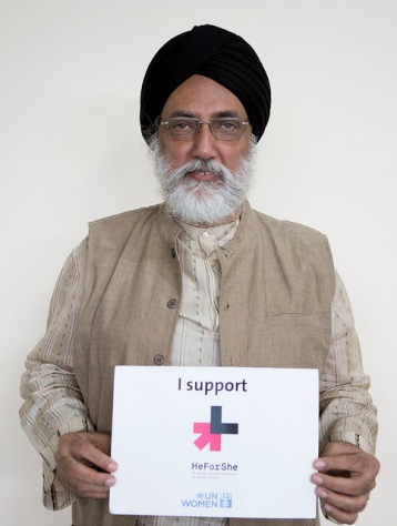 An Indian man in support of gender equality