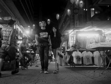 Indian couple streetshopping
