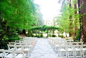 Outdoor wedding arrangements