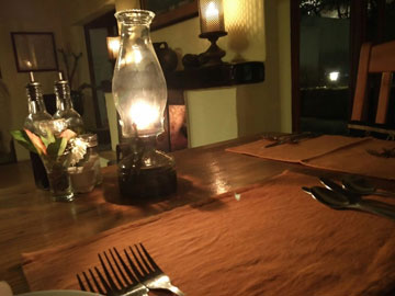 A candlelit dinner opportunity not taken