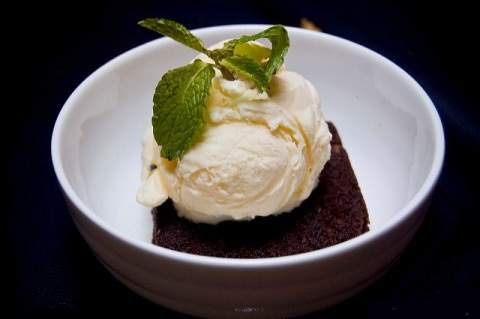 Brownie with ice-cream