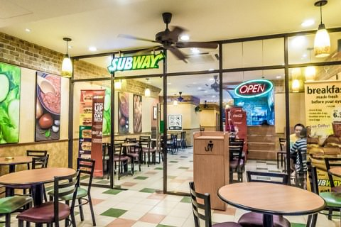 A subway outlet