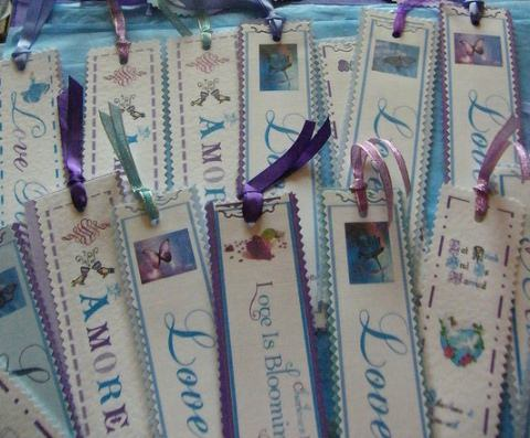 Bookmarks as wedding favors