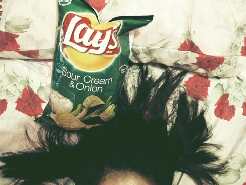 Snacking in bed