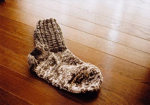 Socks on the floor