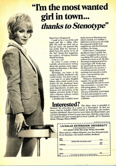 A stenographer