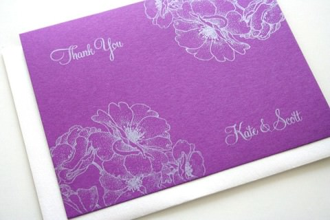A pretty thank-you card