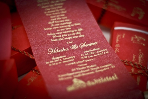 An Indian wedding invite