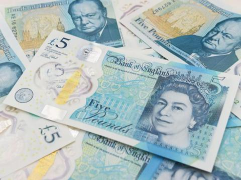The new five-pound note containing animal fat