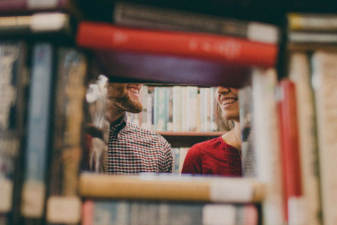 Meaningful date ideas: At a bookstore or library