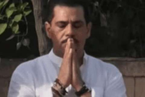 Robert Vadra and yoga