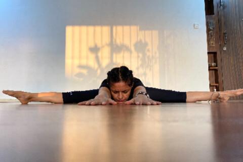 Shammi Gupta: Wide-Angled Seated Forward Bend Yoga Asana